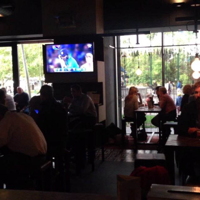 Heating's on, cricket's on, dinner's on! #ludlowbar #southbank #ItsOn